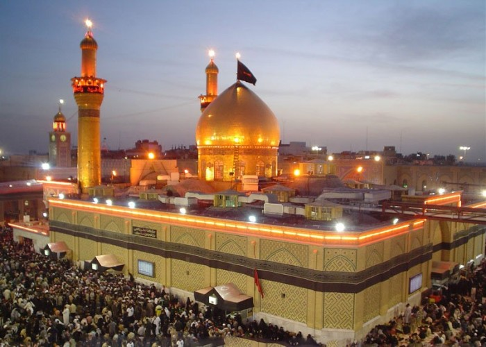 .. picture of Imam Hussain's shrine in Karbala ..